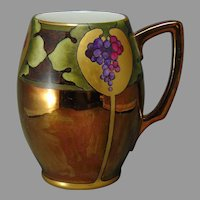 Rosenthal Bavaria Copper Lustre & Grapes Design Tankard/Mug (c.1907-1930)