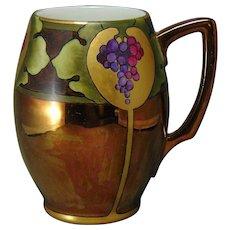 Rosenthal Bavaria Copper Lustre & Grapes Design Tankard/Mug (c.1907-1930)
