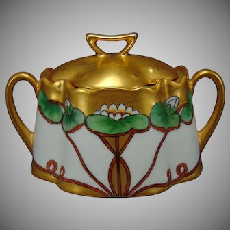 """Zeh Scherzer & Co. Bavaria Sugar/Trinket Dish (Signed """"M. Arnold""""/c.1900-1930)"""