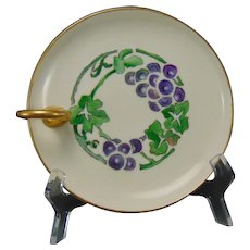 "HC Royal Bavaria Grape Motif Lemon Server (Signed ""H.F. Hobbs""/Dated 1921)"