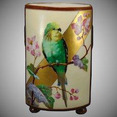 Porcelain Blank Parrot Design Vase (Paper Label: A. Stowell & Co./c.1900-1930)