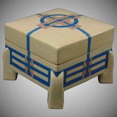 "American Satsuma Geometric Design Covered Box (Signed ""W. Henderson""/Dated 1912)"