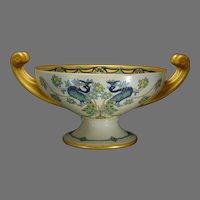 Hutschenreuther Selb Bavaria Peacock & Fruit Design Centerpiece Bowl (c.1920-1930) - Keramic Studio Design