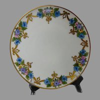 "Thomas Bavaria Floral & Scroll Design Plate (Signed ""M.A.M.""/c.1910-1930)"