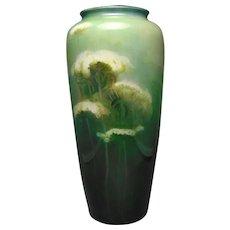 "Ceramic Art Company Belleek (American) ""Wild Carrot"" Design Vase (c.1904-1920) - Keramic Studio Design"