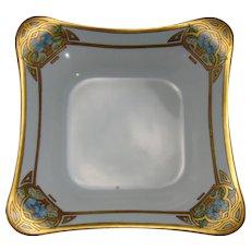 """Hutschenreuther Selb Bavaria Enameled Floral Design Bowl (Signed """"M.B.H.""""/c.1920-1940)"""