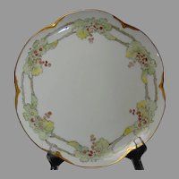 "Bavaria Grape Design Plate (Signed ""D.S.""/c.1910-1930)"