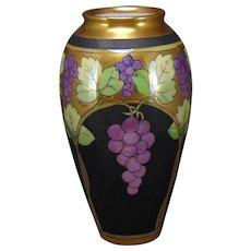 "Pickard Studios ""Lustre Grapes & Leaves"" Design Vase (Signed ""Hessler""/c.1905-1910)"