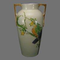 Heinrich & Co. Bavaria Lustre Parrot Design Vase (c.1910-1930)