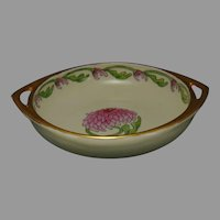 "TK Czechoslovakia Chrysanthemum Design Handled Bowl (Signed ""O.S.""/c.1918-1936)"