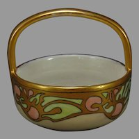 "MZ Austria Abstract Fruit Design Basket/Dish (Signed ""C.S.""/c.1910-1920)"
