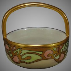 "MZ Austria Abstract Fruit Design Basket/Dish (Signed ""C.S.""/c.1910-1920)"