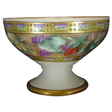 "Hutschenreuther Selb Bavaria Fruit Design Centerpiece Bowl (Signed ""Florence R. Hedge""/Dated 1928)"