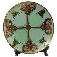 "Thomas Bavaria Floral & Citrus Design Plate (Signed ""Helen Ehslen""/c.1912-1930)"