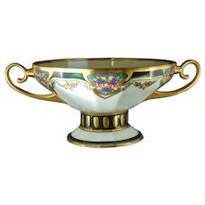 Fraureuther Germany Fruit Design Centerpiece Bowl (Signed/Dated 1928) - Keramic Studio Design