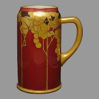 Ceramic Art Company Belleek (American) Grape Design Tankard (c.1903-1920) - Keramic Studio Design
