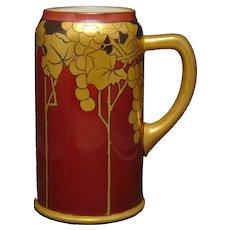 Ceramic Art Company Belleek (American) Grape Design Tankard (c.1903-1920) - Keramic Studio Design