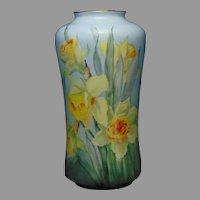 O&EG Austria Daffodil/Jonquil Design Vase (c.1899-1918)
