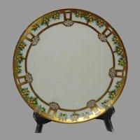 """Haviland Limoges Citrus Tree Design Plate (Signed """"L. Donnell""""/c.1905-1930)"""