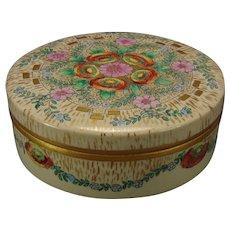 American Satsuma Floral Design Covered Jar/Box (c.1910-1930)