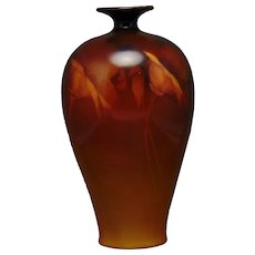 Ceramic Art Company (CAC) Belleek (American) California Poppy Design Vase (c. 1889-1906)
