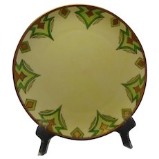 "Haviland Limoges Geometric Design Plate (Signed ""Anna Kray""/Dated 1910)"