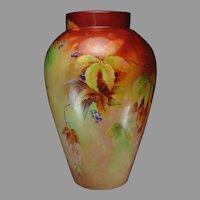 "D&Co. Limoges ""Woodbine Design"" Vase (c.1900-1920) - Keramic Studio Design"