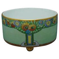 """T&V Limoges Floral Design Footed Bowl/Planter (Signed """"TM""""/c.1910-1930)"""