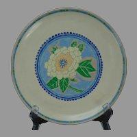 American Satsuma Enameled Floral Design Plate (c.1920-1930) - Keramic Studio Design