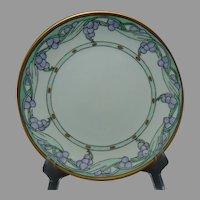 "PL Limoges Grape Design Plate (Signed ""Gibson""/c.1908-1930) - Keramic Studio Design"