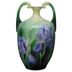 JP Limoges Iris Motif Vase (c.1890-1932)