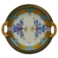 White's Art Company Haviland Limoges Blue Floral Dish/Bowl (c.1914-1923)