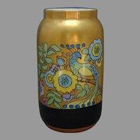 """PSAA Bavaria Peacock & Floral Design Vase (Signed """"K. Afigan""""/c.1920-1940)"""