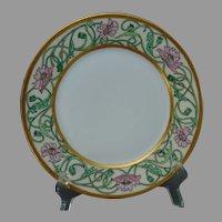 "Haviland Limoges Poppy Design Plate (Signed ""F.V. Greenstreet""/c.1900-1930) - Keramic Studio Design"