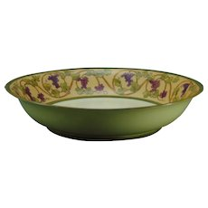 T&V Limoges Grape Design Serving Bowl (c.1900-1930)