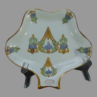 "Hutschenreuther Selb Bavaria Floral Design Tray/Trinket Dish (Signed ""F.F.""/c.1920-1940)"