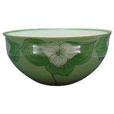 "Lenox Belleek (American) Trillium Centerpiece Bowl (Signed ""J. Steinke""/c.1906-1924)"