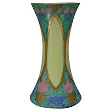 "Hutschenreuther Favorite Bavaria Enameled Floral Design Vase (Signed ""M.L. Martin""/Dated 1915)"