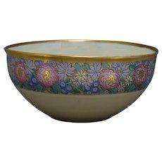 Lenox Belleek (American) Enameled Floral Design Centerpiece Bowl (c.1906-1924)