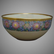Lenox Belleek (American) Enameled Floral Design Centerpiece Bowl (c.1906-1924)