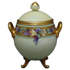 Hutschenreuther Favorite Bavaria Fruit Design Condiment Jar (c.1910-1930)