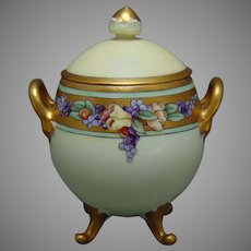 Hutschenreuther Favorite Bavaria Fruit Design Condiment Jar (c.1910-1930)