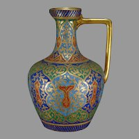 "Royal Bonn Germany ""Cashmire"" Pattern Tapestry Ewer/Pitcher (c.1890-1923)"