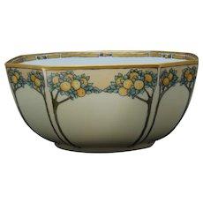 "B&Co. Limoges Citrus Tree Design Centerpiece Bowl (Signed ""H.L. Porter""/Dated 1913)"