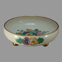 Lenox Belleek (American) Enameled Floral Design Footed Bowl (c.1906-1924)