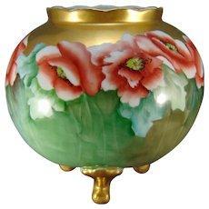 Hutschenreuther Bavaria Poppy Motif Footed Vase (c.1910-1940)
