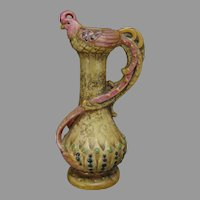 Amphora Austria Arts & Crafts Bird Motif Handled Vase (c.1890-1910)