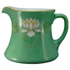 WG &Co. Limoges Pond Lily/Lotus Blossom Design Pitcher (c.1910-1940)