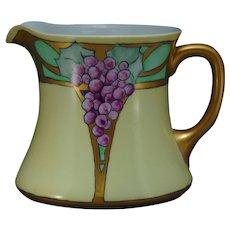 "O&EG Austria Grape Design Pitcher (Signed ""Nettie Jackson""/c.1910-1930)"