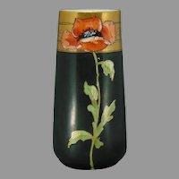 PH Leonard Austria Poppy Motif Vase (c.1900-1920)